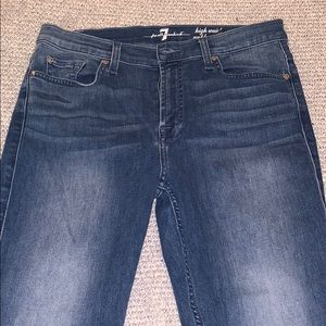 7 forall Mankind High Waisted Ankle Gwenevere Jean